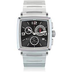 Xen Men's Quartz Watch Analogue Display and Metal Strap XQ0061_silber/schwarz