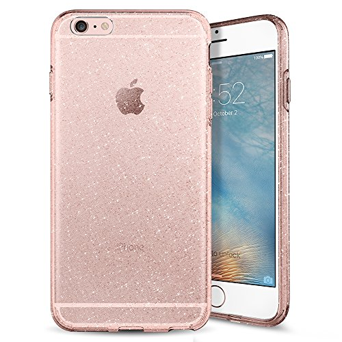 Glitter Plus Case 6 Iphone (iPhone 6S Plus Hülle, Spigen® [Liquid Crystal Glitter] Glitzer Design [Rose Quartz] Glänzende Soft Flex Premium TPU Silikon Bumper Style Handyhülle Perfekte Passform Maßgeschneidert Passgenau Schutzhülle für iPhone 6/6S Plus Case Cover - Rose Quartz (036CS21757))