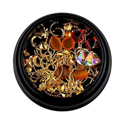 Cuteelf Nagel Art Strassstein Glitter Strass, 3 Boxen 3D Nagel Kunst Strasssteine Kit Fingernägel Aufkleben Zubehör für Nagel Kunst Dekorationen Lieferungen