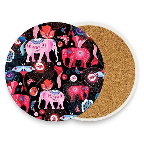 DEZIRO tapete multiuso con diseño de elefantes brillantes para proteger los muebles...