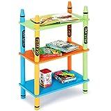 COSTWAY Kinderregal Holz, Aufbewahrungsregal Kinder, Bücherregal Kinderzimmer, Spielzeugregal Kindermöbel, Standregal 3 Ebenen (Modell 2)