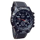 DOGZI Herren Armbanduhr, Uhren Sport Uhr Luxus Armbanduhren - 2015 Quarzuhr Männer Militäruhren Sport Armbanduhr Silikon Fashion Stunden (WT)