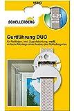 Schellenberg 15103 Duo - Passacintino circolare per tapparelle, montaggio su cassonetto, con paraspifferi, colore: Bianco