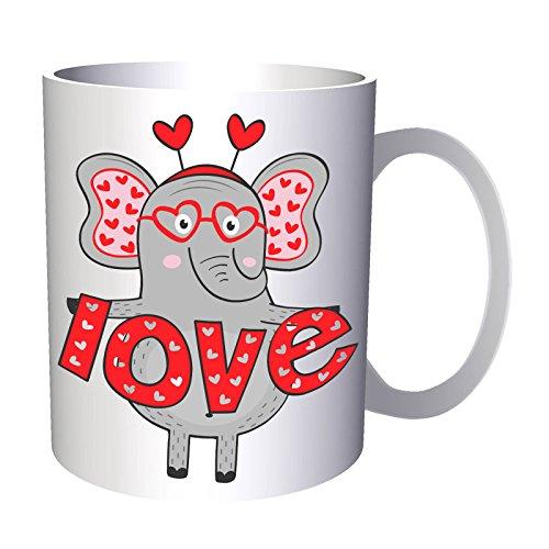chica elefant en el amor me encanta 330 ml taza dd450