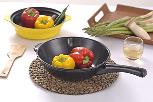 """Xtrema 11"""" Wok with lid cover (100% Ceramic) Non Stick fry frying Pan Ceramcor"""