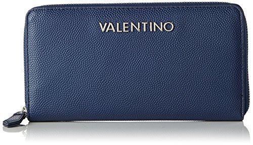 Mario Valentino Valentino by Damen Divina Geldbörse, Blau (Blu), 2.2x11.0x19.5 cm