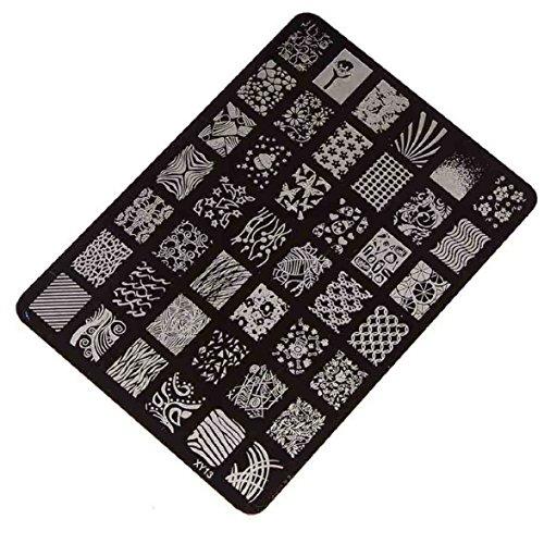Amison 1set ongles emboutissage impression plaque manucure nail art image Decor plaque de tampons pour femmes Lady beauté