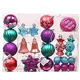 Valery Madelyn Palline di Natale Decorazioni infrangibili Palle di Natale Albero di Natale Ornamenti(50 Pezzi)