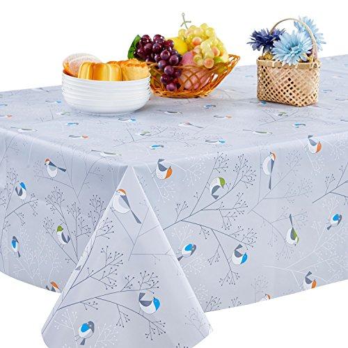 Topmail Tischdecke PVC Blau Wasserdicht Tischtuch 140 x 180cm Wachstuchtischdecke Tischtücher Rechteckig Tischdecke für Küche Hotel Restaurant Cafe