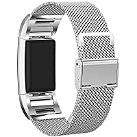 Chofit Replacement Metal Band for Fitbit Charge 2