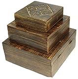 budawi® - Holz Truhe Motiv Lebensbaum (Weltenbaum) 25 x 25 cm, Box-Schachtel zum Aufbewahren, Holz-Box