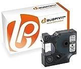 Bubprint Schriftband kompatibel für Dymo 45010 für Labelmanager 100 Plus 150 160 PC PnP 210D 280 420P Mobilelabeler schwarz auf transparent 12mm x 7m