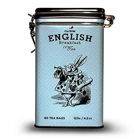 Charbrew Mad Hatter Tea Tin Limited Edition - 60 English
