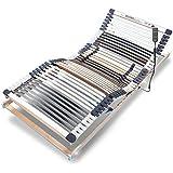 Ravensberger MEDIMED orthopädischer 7-Zonen-Lattenrost , elektrisch verstellbar, Lattenrahmen aus Buche mit 44 Leisten 90x200 cm, LGA und TÜV geprüft