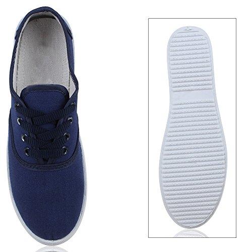 Damen Herren Slipper Sneaker Stoffschuhe Turnschuhe Sommer in mehreren Farben 36-45 Dunkelblau Navy