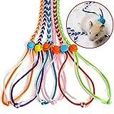 Lembeauty Verstellbar Hamster Geschirr Leine Halsband Kleine Tiere Traktion Seil für Maus Eichhörnchen Ratten Training und Going Out (zufällige Farbe)