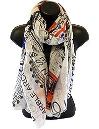 3 Colours: Soft Union Jack, Flag Print, London Landmarks, Souvenir Icon Ladies Over Sized Scarf Gift - By Fat-catz-copy-catz
