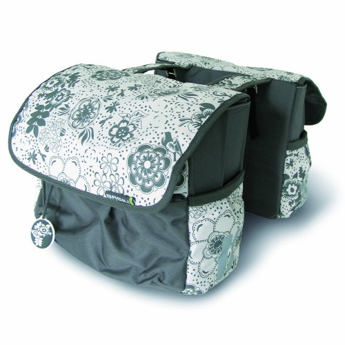 BASIL WOMENS BASE73   BOLSA DOBLE PARA BICICLETA MARBLE GREY