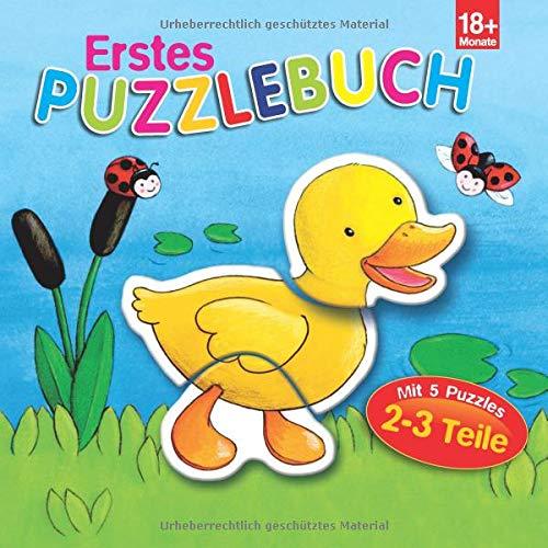 Erstes Puzzlebuch Ente: 5 Puzzles mit je 2-3 Teilen