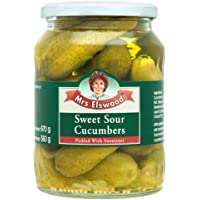 Mrs Elswood - Sweet Sour Cucumbers Pickled with Sweetener - 670g