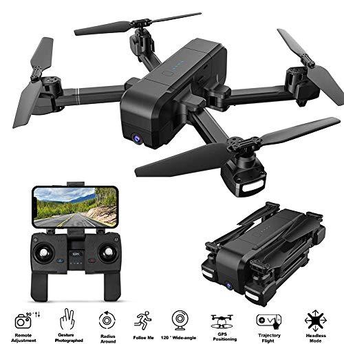 Hotbird H70 Drohne mit Kamera 1080P, 5G GPS Auto Return Remote Einstellbare Weitwinkel HD Kamera FPV RC Quadcopter für Anfänger und Profis, Smart Follow Me, Lange Flugzeit 15 Min