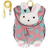 Lictin Cute Bunny Rabbit Animals Zaino per bambini Neonata Borsa da per libro + portachiavi Unicorno