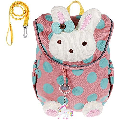 Lictin Baby Rucksack, Anti-verlorener Baby-Rucksack Kinderrucksack Kleinkind Schultasche mit Anti-Verloren Leine und Einhorn Schlüsselanhänger