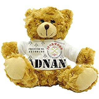 Adnan Property of Ivorwood Correctional Facility - Personalised Male Name Prisoner Plush Teddy Bear (22cm)