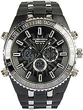 Globenfeld - Jetmaster - Reloj deportivo para hombre - Correa de goma y caja de metal - 5 años de garantía - Negro