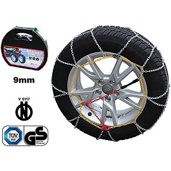 Catene da neve a rombo 9mm Om ONORM V5117 SMART FORFOUR Gomma 195//50R15