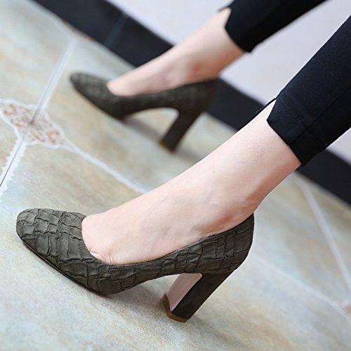 FLYRCX Le donne in primavera e in autunno in stile Europeo di personalità di stile tacco alto scarpe scarpe singolo B