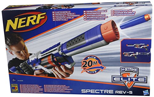 Nerf – N-Strike Elite – Spectre REV-5 – Fusil avec Canon Rotatif