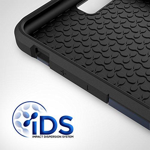 "iPhone 7 Plus 5.5"" Case [Scorpio R5] Premium Protection Cover w/ Screen Guard (Gunmetal Gray) Blue"