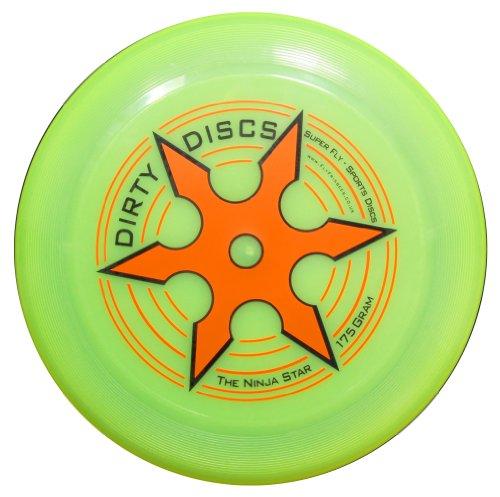Dirty disco Ninja Star Throwing Disc frisbee (giallo)