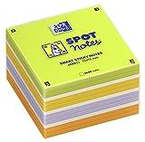 Oxford 400096789Spot Notes Foglietti Block con 450fogli colori assortiti Foglietti Adesivi Stickies Foglietti per ufficio 75X 75mm scribzee compatibile colorato con box