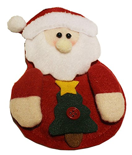 Kitchen Cutlery Suit - Silverware Holders Pockets Knifes Forks Bag Snowman, Santa Claus, Elk Shaped Christmas Party Decoration,Santa Claus