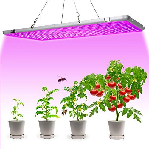 Bozily Pflanzenlampe LED, Klappbare Pflanzenlampen Vollspektrum, 338 LEDs, 300W, für Zimmerpflanzen, Gemüse und Blumen, Speziell für Fruchten, Blüte, 56x30 x1,8cm