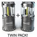 HeroBeam® LED Lantern - 2016 COB Technology emits 300 LUMENS! - Collapsible Tough Lamp - Great Light for Camping, Car, Shed, Loft, Garage & Power Cuts ** SPECIAL OFFER ON TWIN PACK **