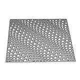 fish Onda cuadrada 3D de corte marco de metal muere ahueca hacia fuera la cuadrícula de grabación en relieve de la plantilla para el bricolaje y litografías Decoración Tarjeta