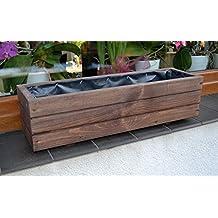 jardinera de madera de palisandro d forma de cubo para jardn o terraza