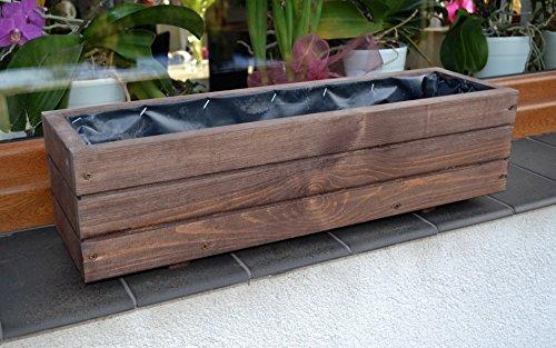 NEU Pflanzkasten aus Holz TOP Pflanzkübel Garten Terrasse fertig montiert D6 Palisander (Länge 90cm)