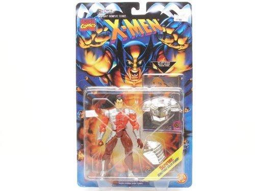 SUNFIRE * Removable Solar Armor * 1995 Marvel Comics X-Men Mutant Genesis Series Action Figure & Marvel Universe Trading Card by X Men (Xmen Trading Card Game)