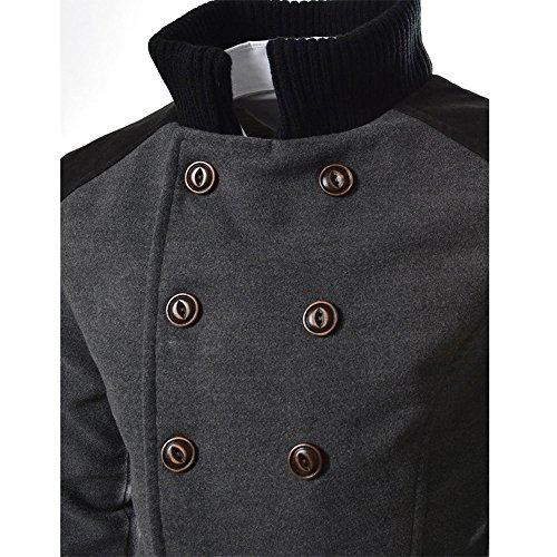 d34355bed3e1 WINWINTOM Herren Mantel Zweireiher Wintermantel Klassisch Lang Mantel Jacke  Verschließbare Reverskragen Männer Jacke Warme Winter Graben