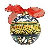 CERAMICHE D'ARTE PARRINI- Ceramica italiana artistica, palla per albero di Natale, dipinta a mano, made in ITALY Toscana