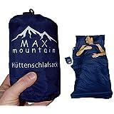 Max Mountain - Saco de dormir para de microfibra, 300g, ligero, transpirable, ideal para hotel y excursionismo