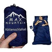 MAX mountain Saco de dormir para de microfibra, ligero, transpirable, ideal para hotel