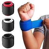 1 Paar Handgelenkbandagen mit verstellbarem Riemen zur Unterstützung und Stabilisierung beim Sport und Fitness Schwarz-Rot