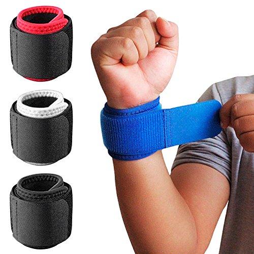 1 Paar Handgelenkbandagen mit verstellbarem Riemen zur Unterstützung und Stabilisierung beim Sport und Fitness Schwarz -