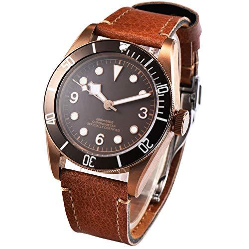 41mm Corgeut ottone PVD di vetro zaffiro meccanico automatico orologio da...