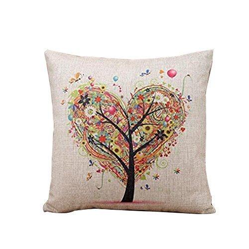 GONO Blumenkissenbezüge Leinen Baumwolle gedruckt Von Vintage Sofa-Kissen Kopfkissenbezug-Stil 1